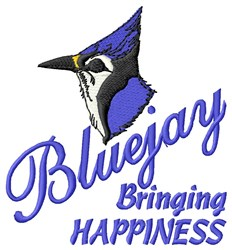 Bluejay Bringing Happiness embroidery design
