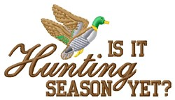 Mallard Hunting Season embroidery design