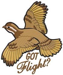 Quail Got Flight? embroidery design