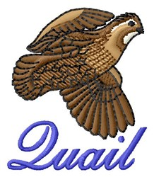 Flying Quail embroidery design