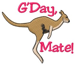 GDay Mate Kangaroo embroidery design