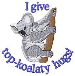 Top-koalaty Hugs embroidery design