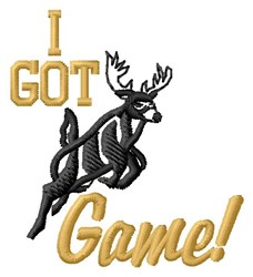 Got Game Deer embroidery design