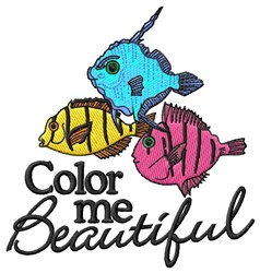 Color Me Beautiful Fish embroidery design
