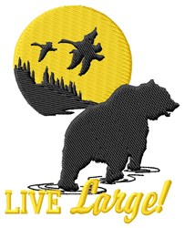 Live Large! embroidery design