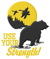 Use Your Strength embroidery design