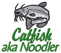 Catfish AKA Noodler embroidery design