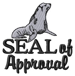 Seal Of Approval embroidery design