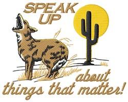 Speak Up Wolf embroidery design