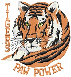 Tigers Paw Power embroidery design
