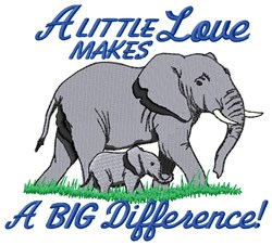 Little Love Big Difference embroidery design