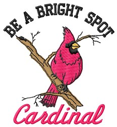 Bright Spot Cardinal embroidery design
