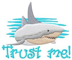 Trust Me Shark embroidery design