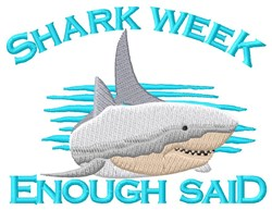 Shark Week embroidery design