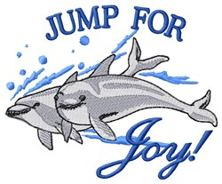 Jump For Joy Dolphins embroidery design