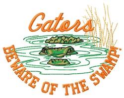 Gators Beware embroidery design