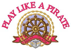 Pirate Play With Ships embroidery design