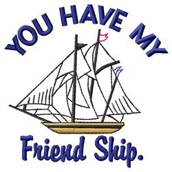 My Friend Ship embroidery design