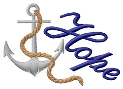 Anchor Of Hope embroidery design