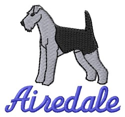 Airedale embroidery design