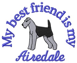 Airedale Friend embroidery design