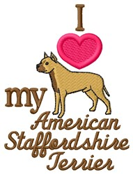 Love My Staffordshire embroidery design