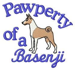 Basenji Pawperty embroidery design