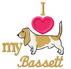 Love My Bassett embroidery design