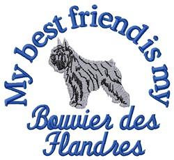Bouvier Friend embroidery design