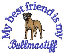 Bullmastiff Friend embroidery design