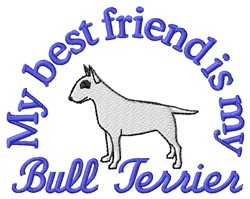 Bull Terrier Friend embroidery design
