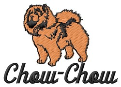 Chow-Chow embroidery design