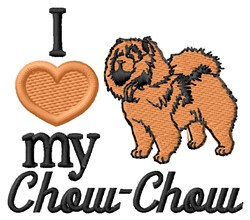 Love My Chow-Chow embroidery design