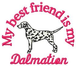 Dalmatian Friend embroidery design