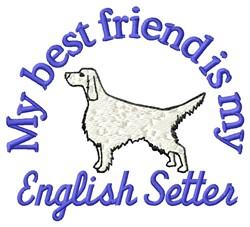 English Setter Friend embroidery design