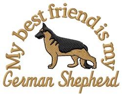 German Shepherd Friend embroidery design