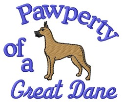 Great Dane Pawperty embroidery design