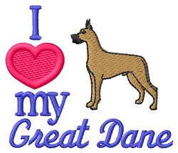 Love Great Dane embroidery design