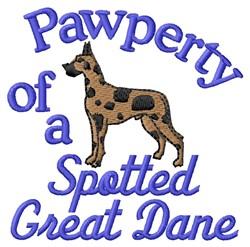 Spotted Dane Pawperty embroidery design