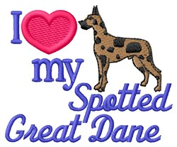 Love Spotted Dane embroidery design