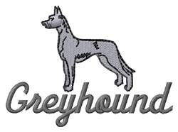 Greyhound embroidery design