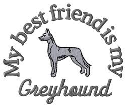 Greyhound Friend embroidery design