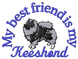 Keeshond Friend embroidery design