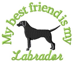 Labrador Friend embroidery design