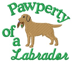 Labrador Pawperty embroidery design