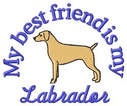 Labrador Best Friend embroidery design