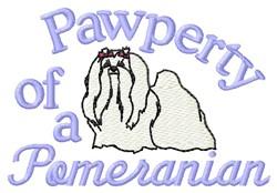 Pomeranian Pawperty embroidery design