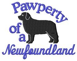 Newfoundland Pawperty embroidery design
