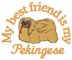 Pekingese Friend embroidery design