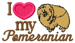 Love My Pomeranian embroidery design